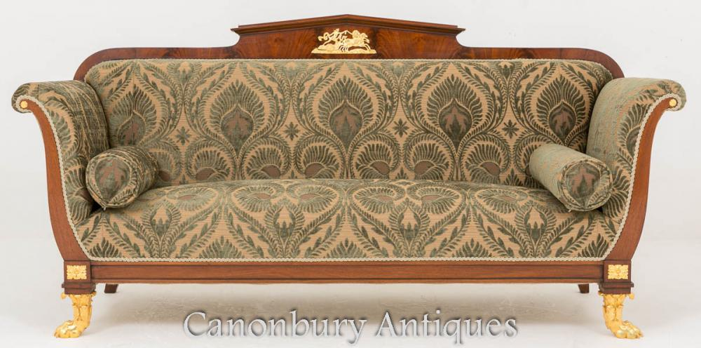 Canapé Antique Empire Empire 1860