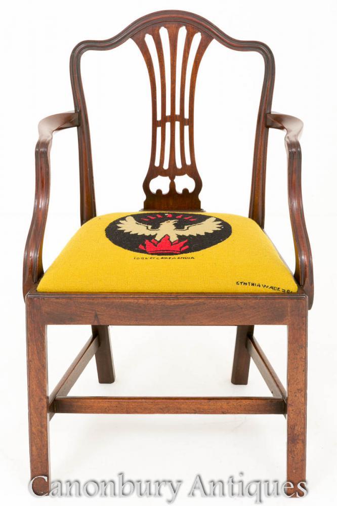 Chaise de bureau Hepplewhite en acajou - Fauteuils anciens