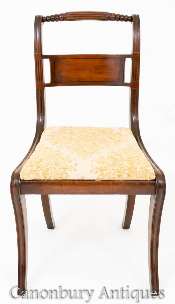 Chaises de salle à manger Regency en acajou Set 12