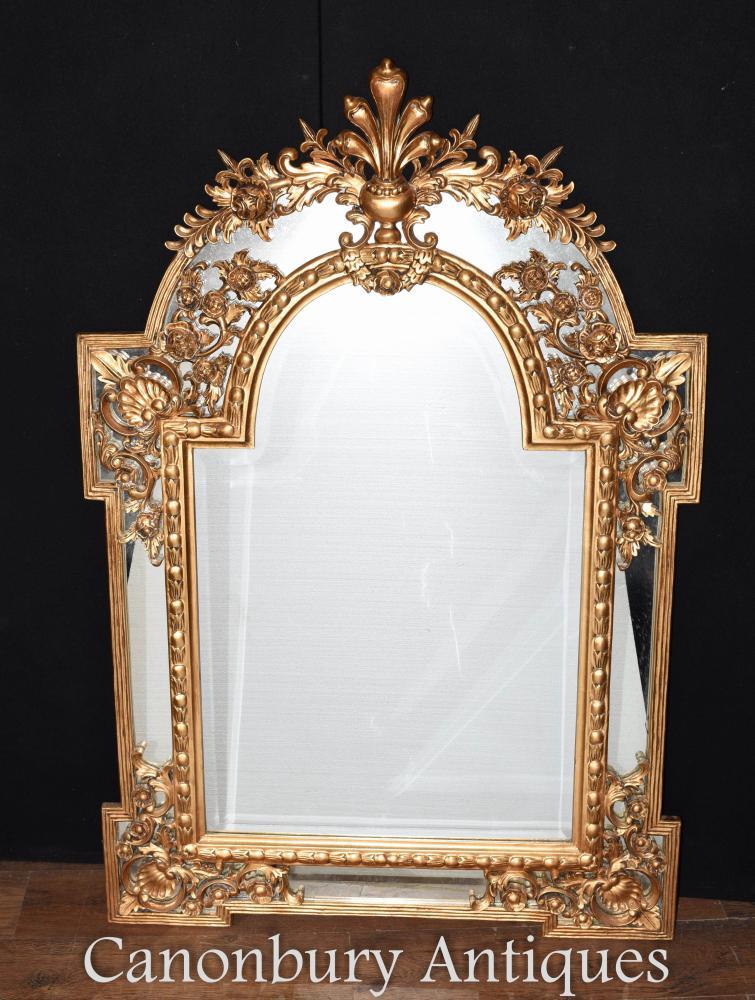 Chippendale Gilt Pier miroirs en verre miroir