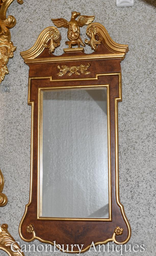Empire Pier Miroir Federal Eagle Cadre doré