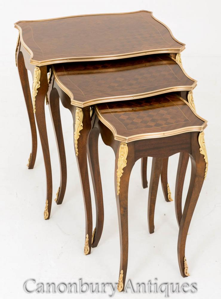 French Nest 3 Tables - Table d'Appoint Empire