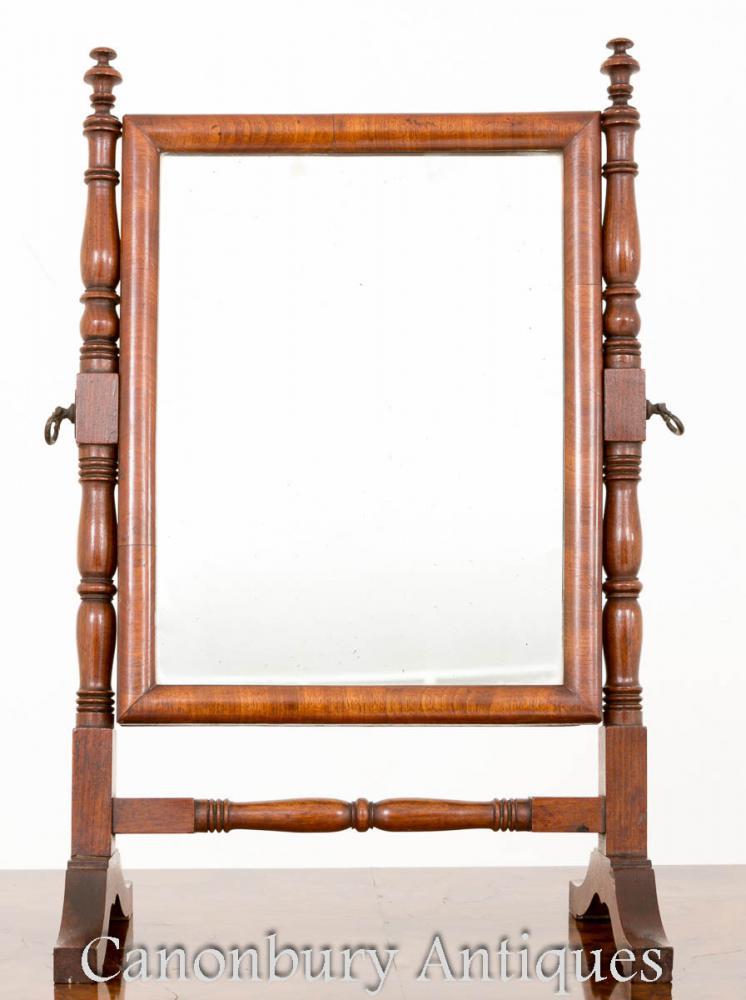 Miroir de toilette Régence en acajou - Dressing Miroirs Cheval