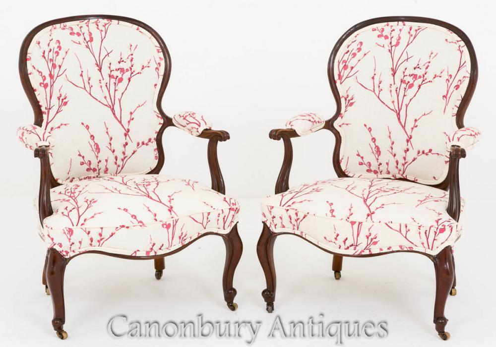Paire de fauteuils Hepplewhite - Fauteuil en acajou Fauteuil 1800