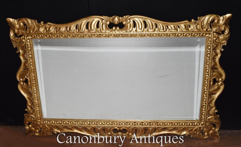 Regency Adams - Miroir à manteau doré