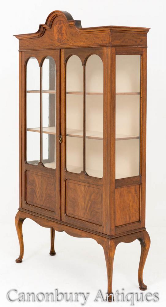 Regency Mahogany Cabinet Antique Bibliothèque