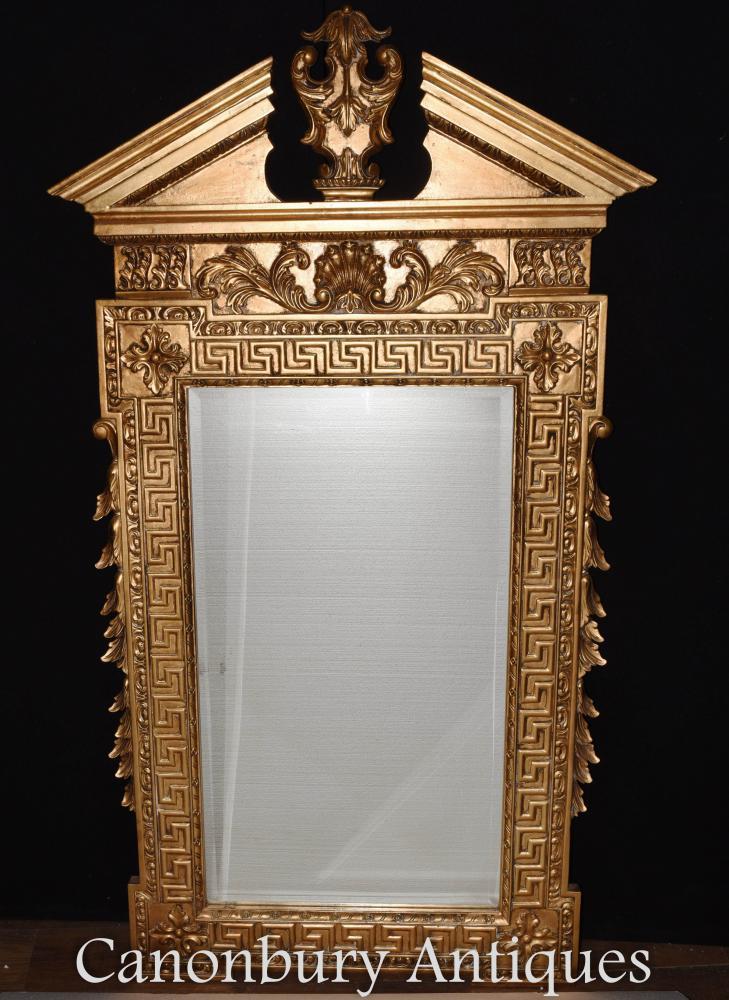 Regency Pier Mirror Classique Front d'Arche Brisée