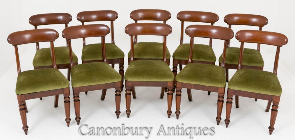 Set de chaises en acajou à manger Victorian Set 10