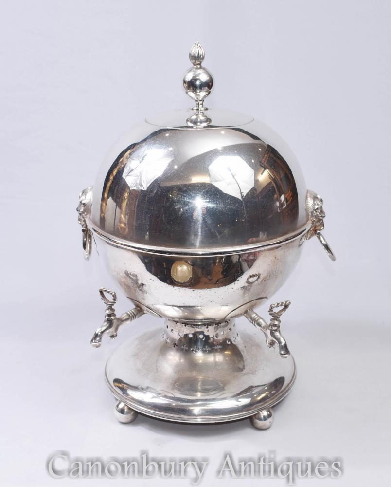 Sheffield Assiette en argent Samovar Thé Urn - Victorien Circa 1880
