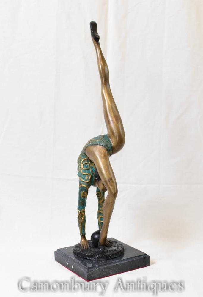 Statue Art Déco - Ball Dancer Années 1920 Femme Figurine