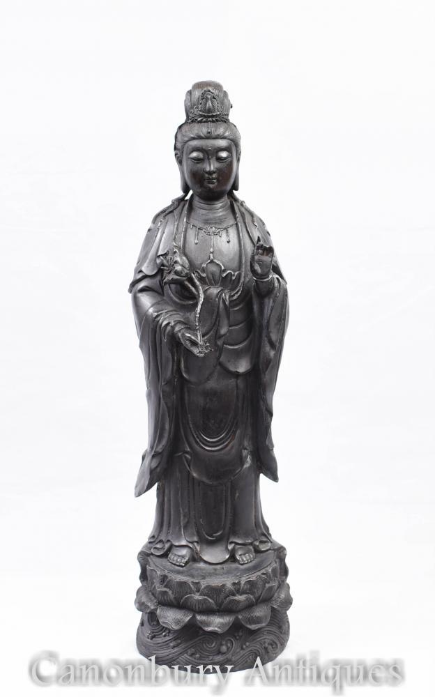 Statue de Bouddha népalais en bronze - Bouddhiste Figurine Bouddhisme Art