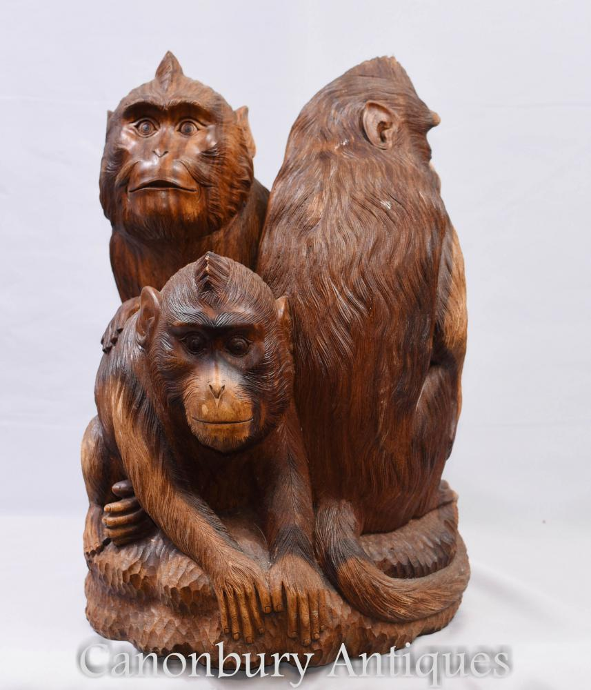 Statues de Gibbon à la main