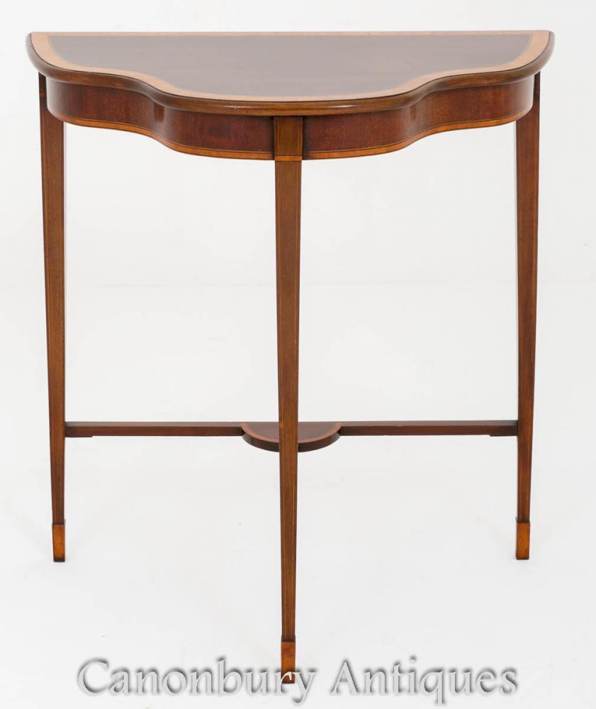Table Console Sheraton en Acajou Circa 1890