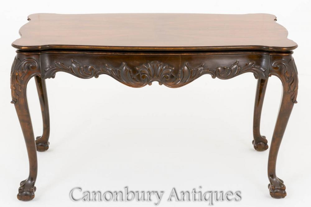 Table basse Chippendale en acajou