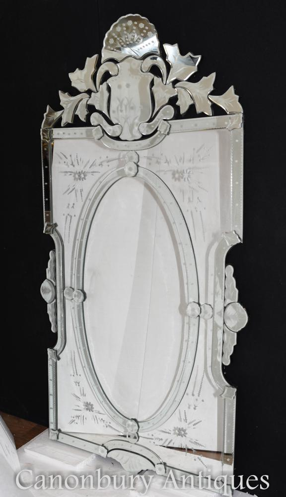 Venetian Pier Mirror Cut verre gravé