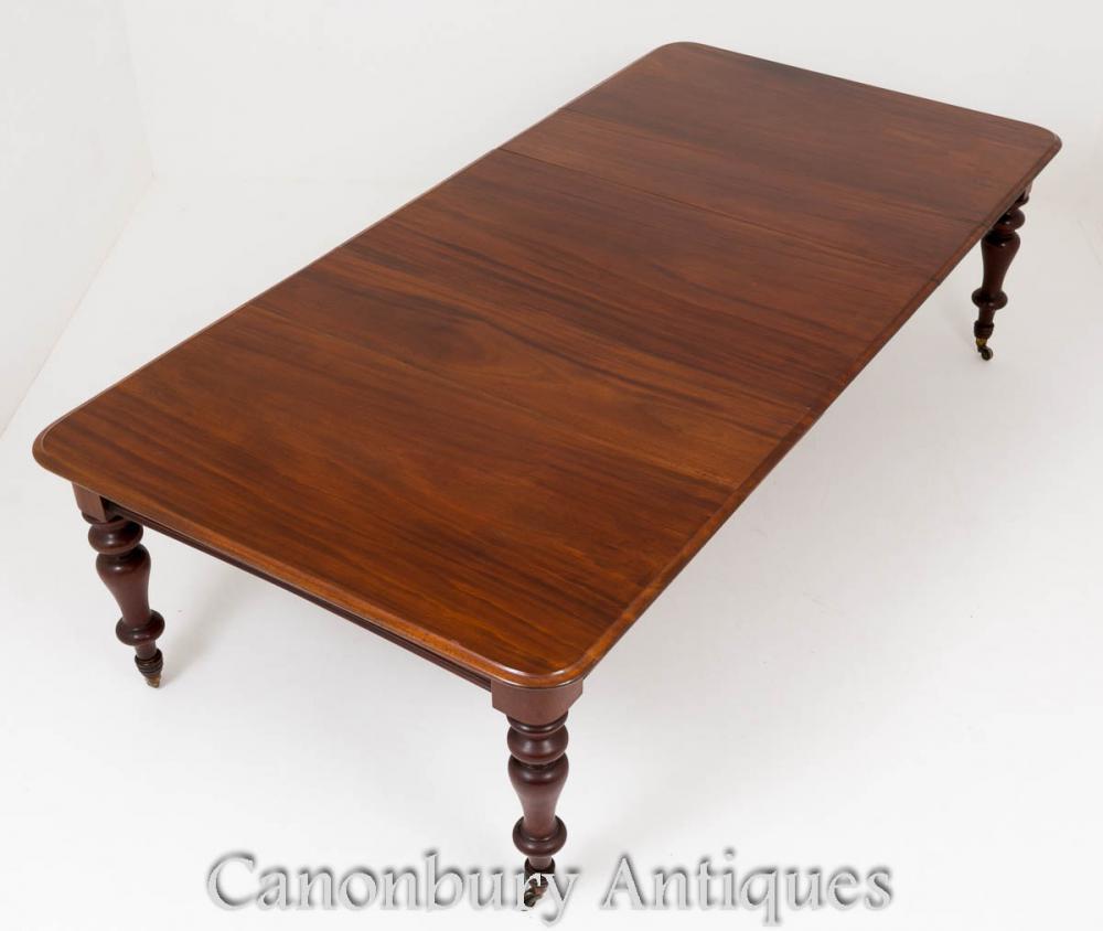 Victorian Dining Table - Tables extensibles en acajou vers 1860