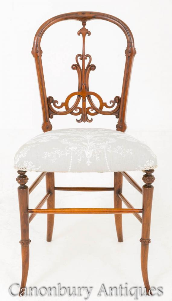 Victorian Walnut Chair 1860 Chaises Anciennes