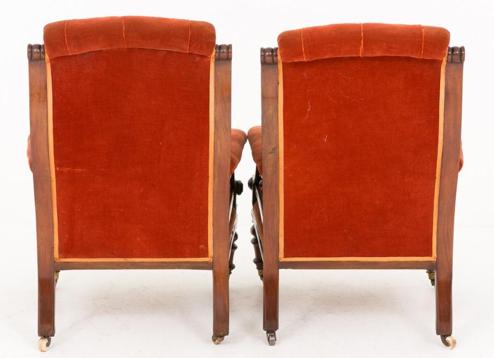 Paire de sièges de fauteuils victoriens Circa 1860