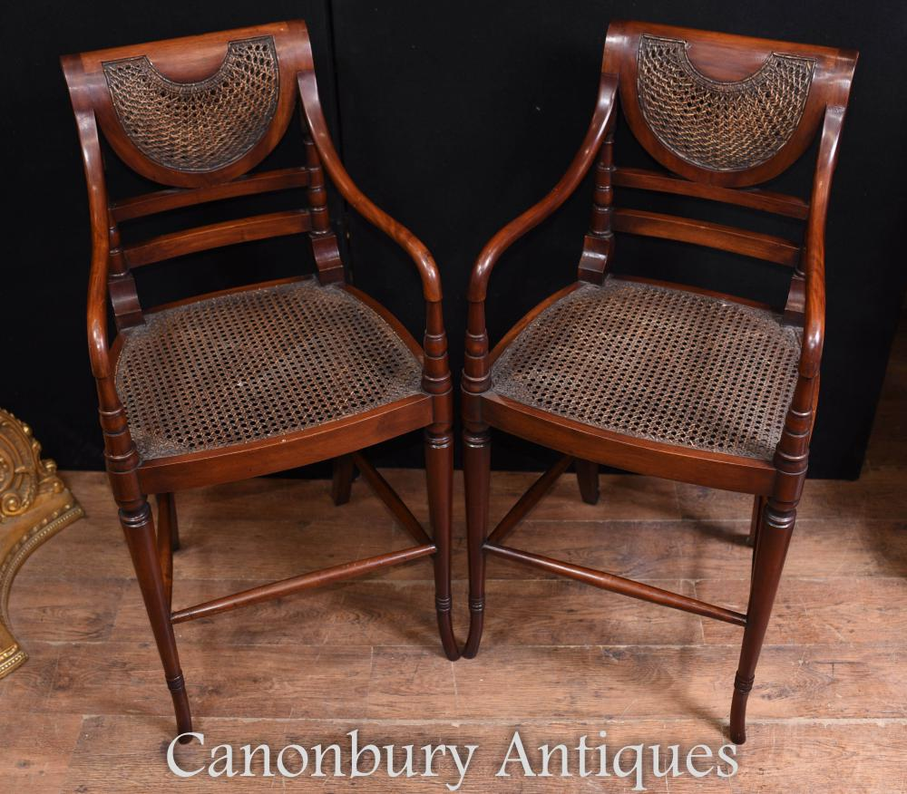 Set Mahogany Bar Stools Victorian Chairs Seating