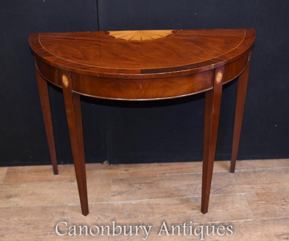 Table console simple Hepplewhite Tables table en acajou