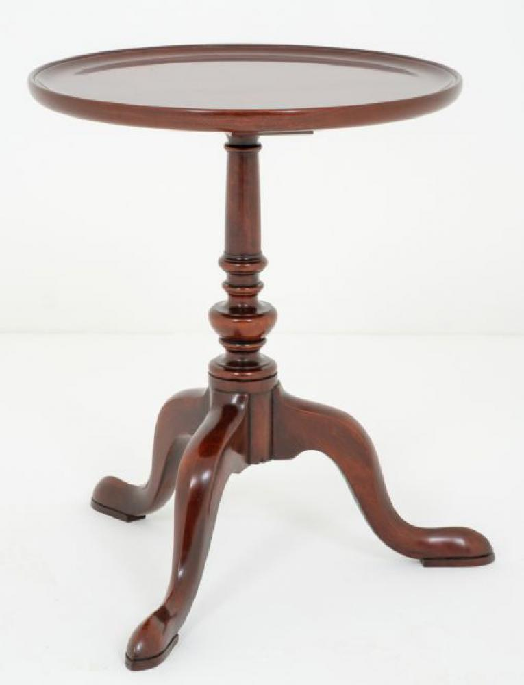 Tables d'Appoint Antique en Vinyle d'Acajou