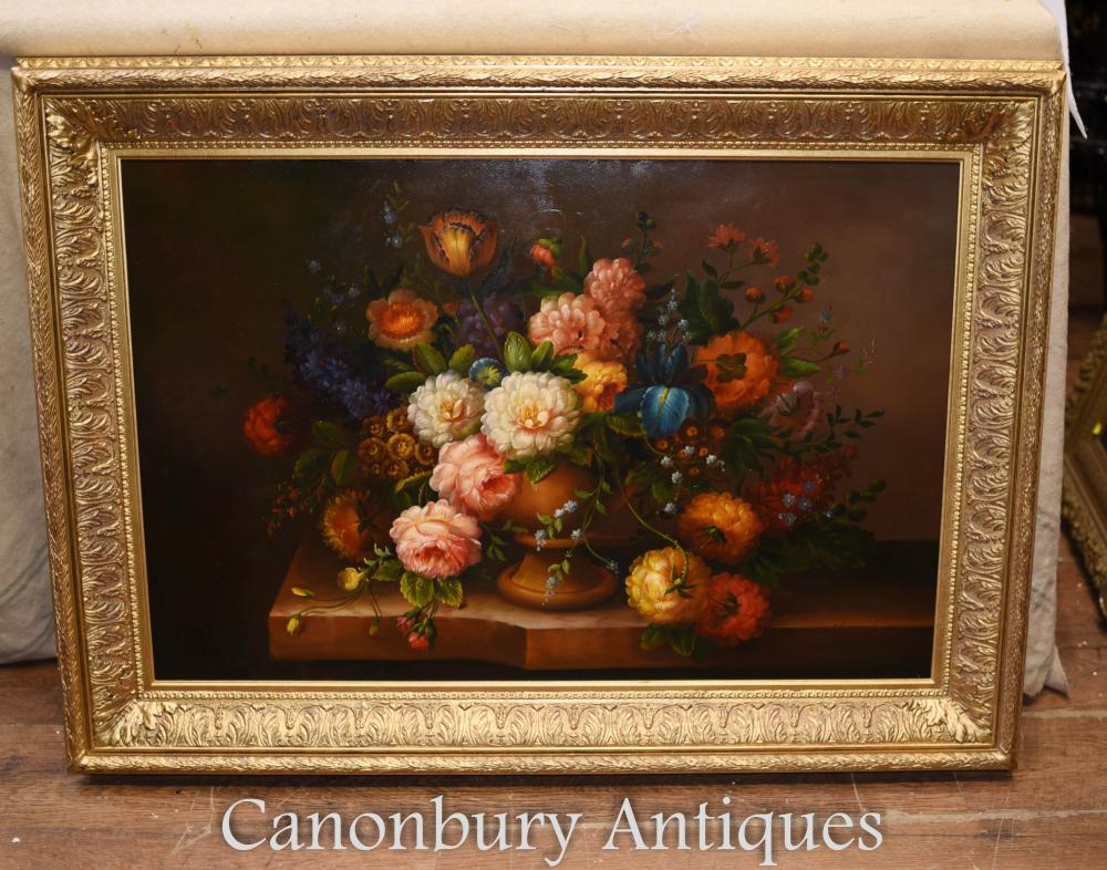 Floral Spray Peinture à l'huile Anglais Victorian Flower