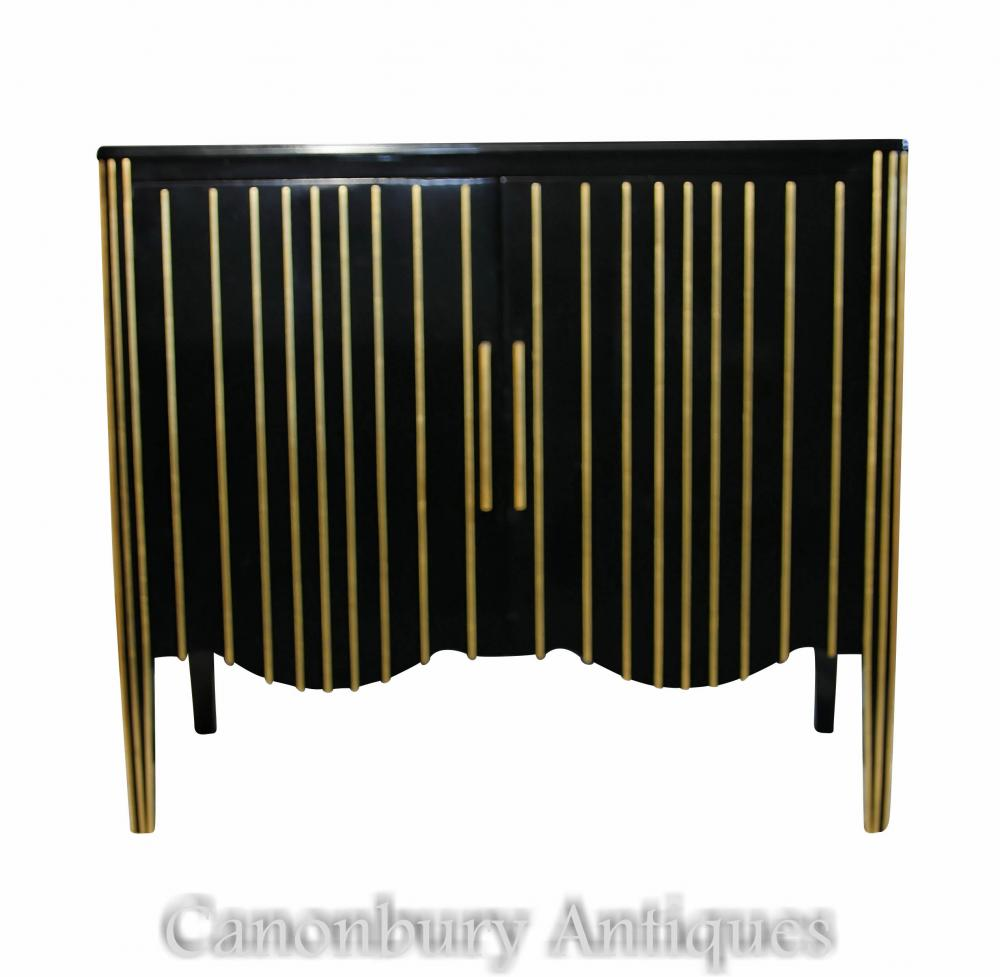 Art Deco Ebonised Cabinet Commode Meubles Modernistes