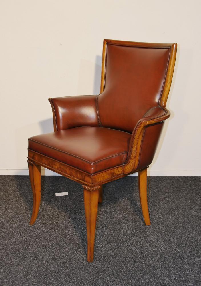 Bureau et chaise Art déco en frêne inspirés par Tomazo Buzzi