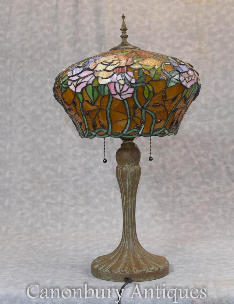 Lampe Art Nouveau Tiffany Bronze