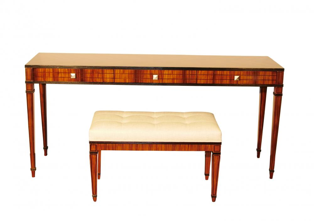 Table Console Mid Century Moderne Ensemble Meuble Et Tabouret Santos
