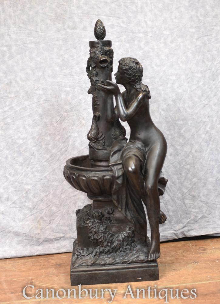 Sculpture Figurine Féminine en Bronze Français