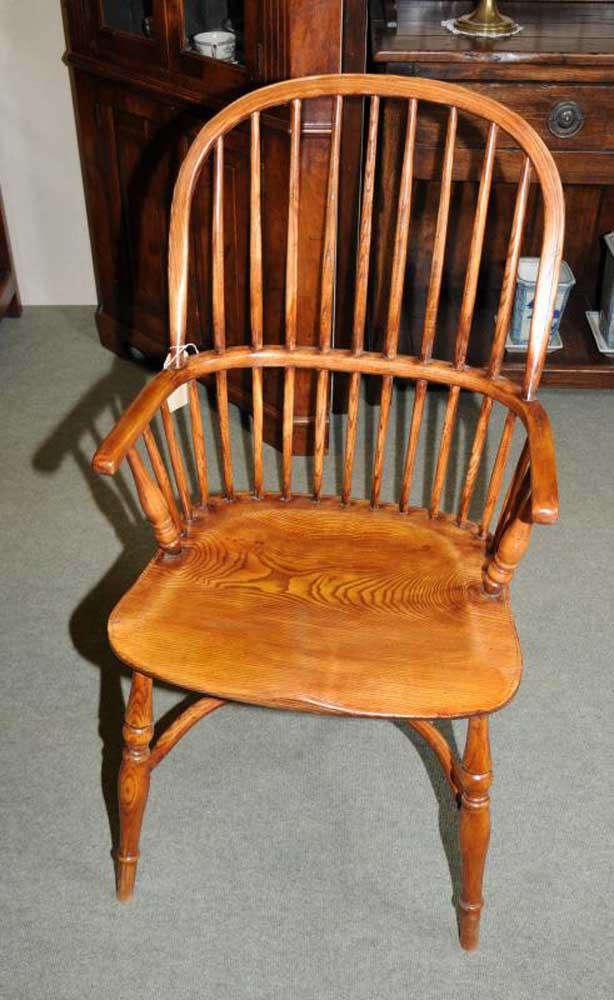 6 chaises de salle à manger Windsor Bow Back Kitchen