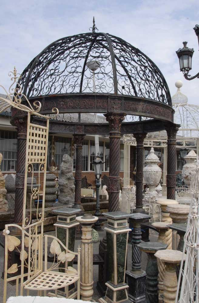 Belvédère architecturale anglaise en fonte victorienne de 12 pieds
