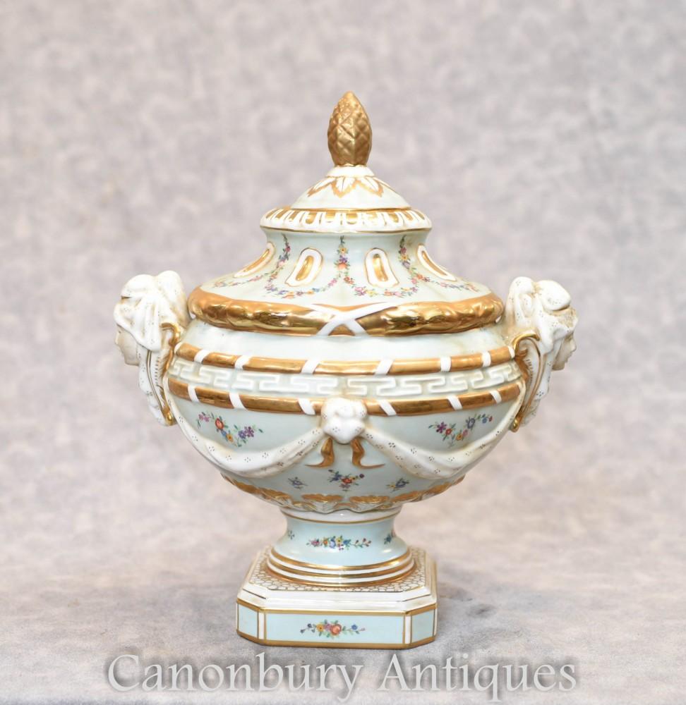 Bol en porcelaine de Meissen - Urne de soupière à poterie allemande