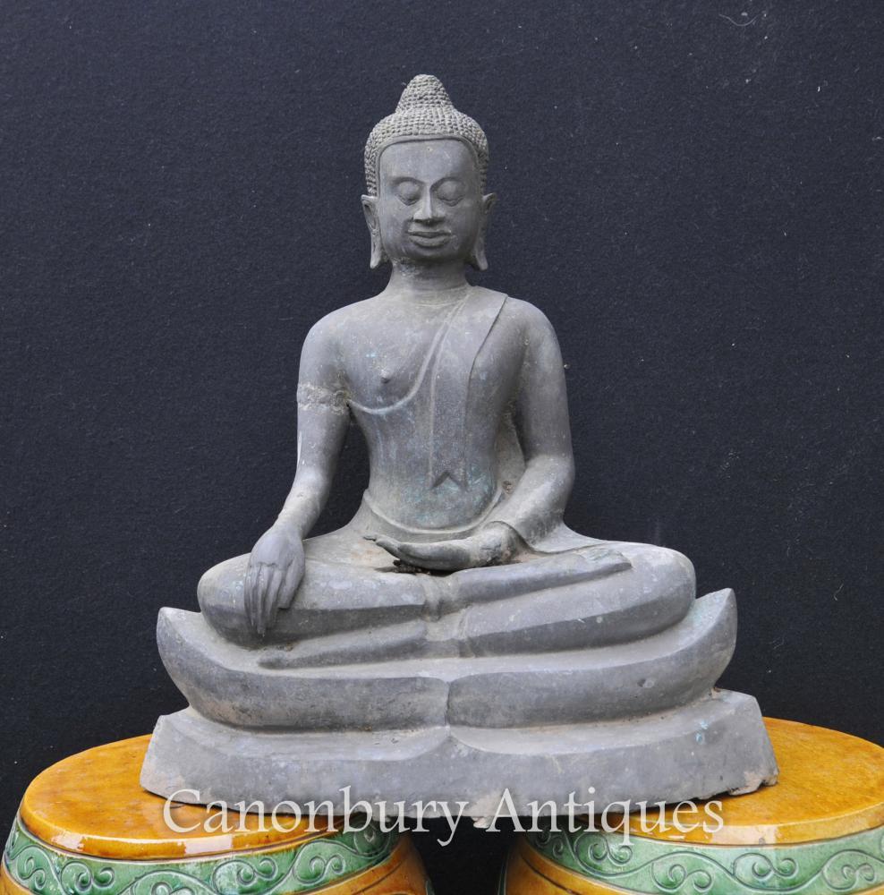 Bronze Statue de Bouddha Népalais Bouddhisme Népal Art Bouddhiste Sculpture