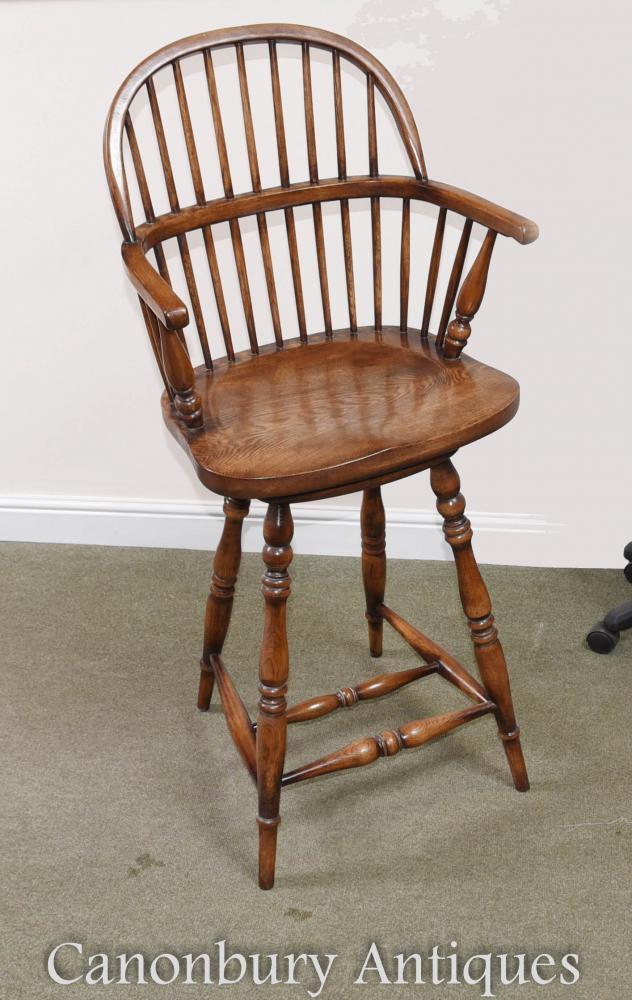 Chaise de salle à manger en chêne Oak Windsor