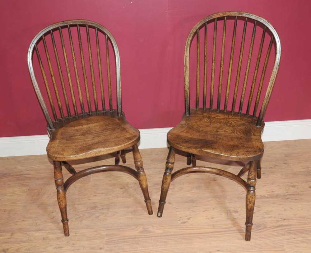 Ensemble de 8 chaises anglais Bow Back Country Windsor