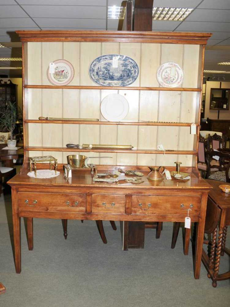 Farmhouse Welsh Dresser Buffet Cuisine En Bois De Cerisier