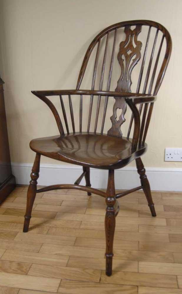 Paire de chaises Windsor Chaise de cuisine Farmhouse en chêne