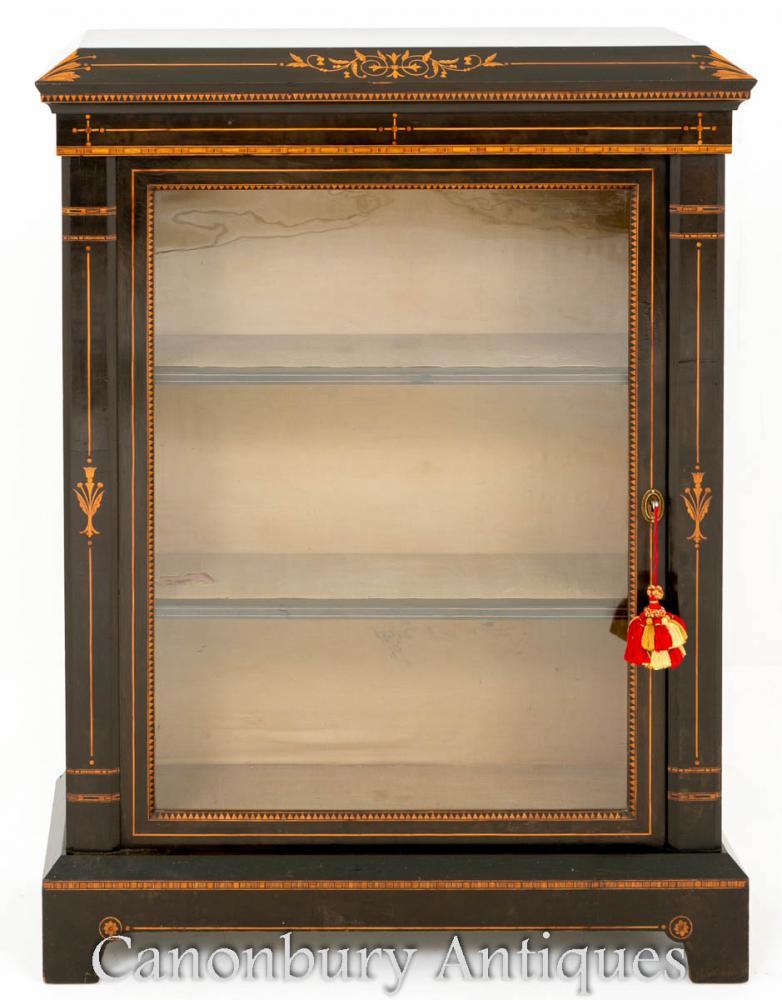 Présentoir d'armoire de piliers noirci Arts and Craft