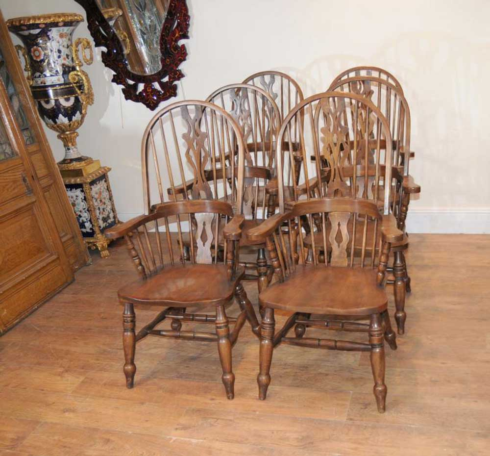 Set 6 Fauteuils Windsor Fauteuils Oak Farmhouse