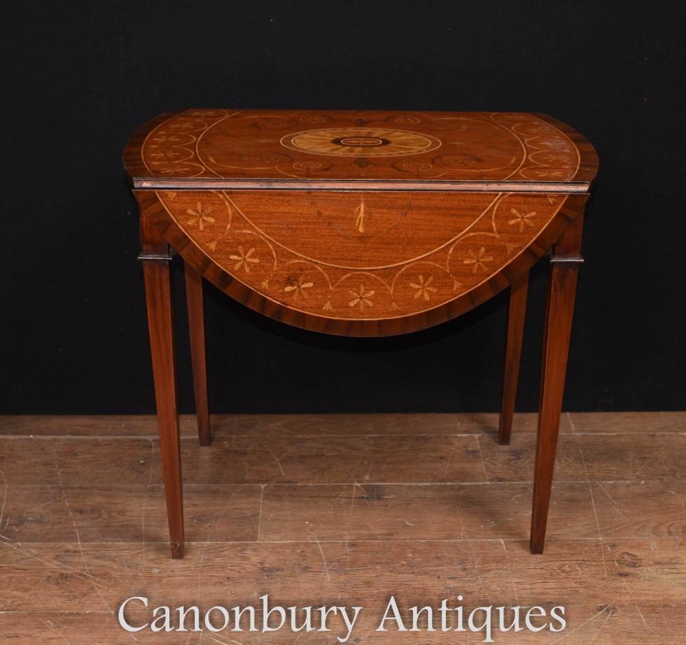 Sheraton Pembroke Table Tables à rallonge en acajou