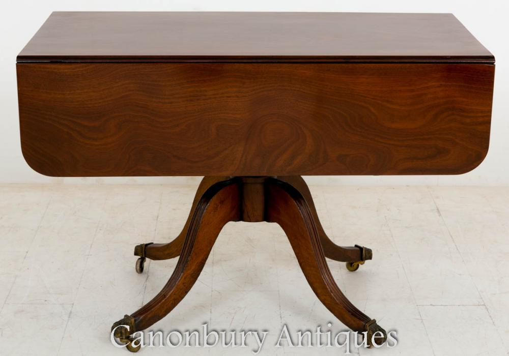 Table d'appoint Regency Pembroke en acajou 1800