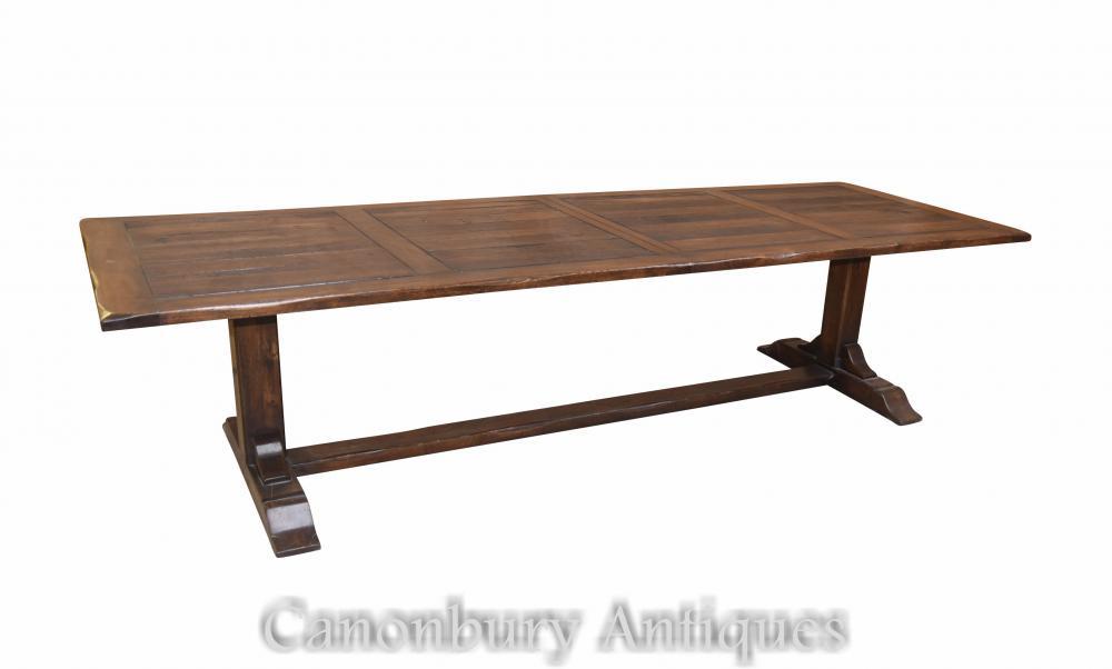 Table de chevalet de cuisine réfectoire Farmhouse en chêne
