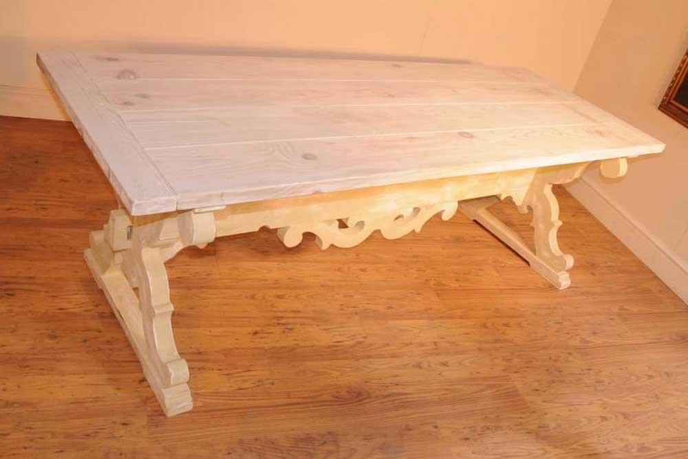 Table de réfectoire de ferme en chêne