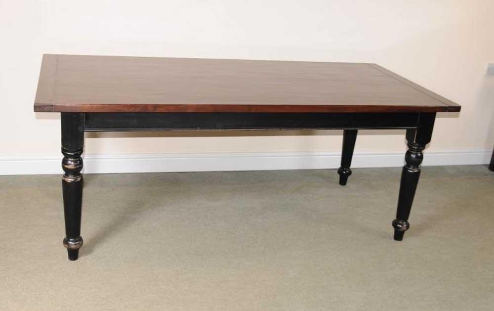 Table de réfectoire en chêne Table de salle à manger avec cuisine