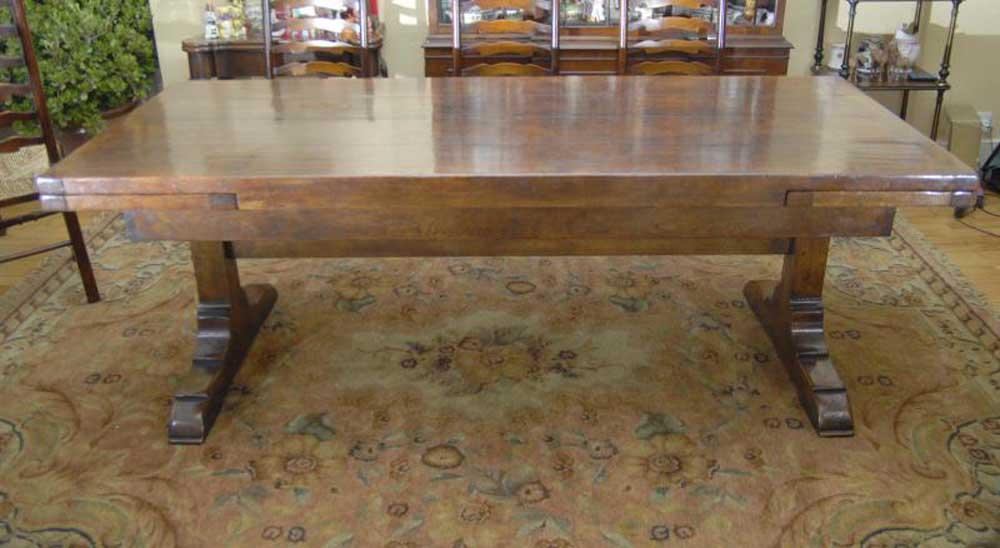 Table de réfectoire en chêne - Tables de cuisine à rallonges 10 Ft 305 CM