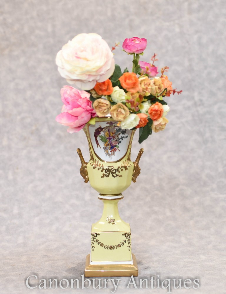 Vase en porcelaine de Dresde - Jardinière à fleurs Campana Urn