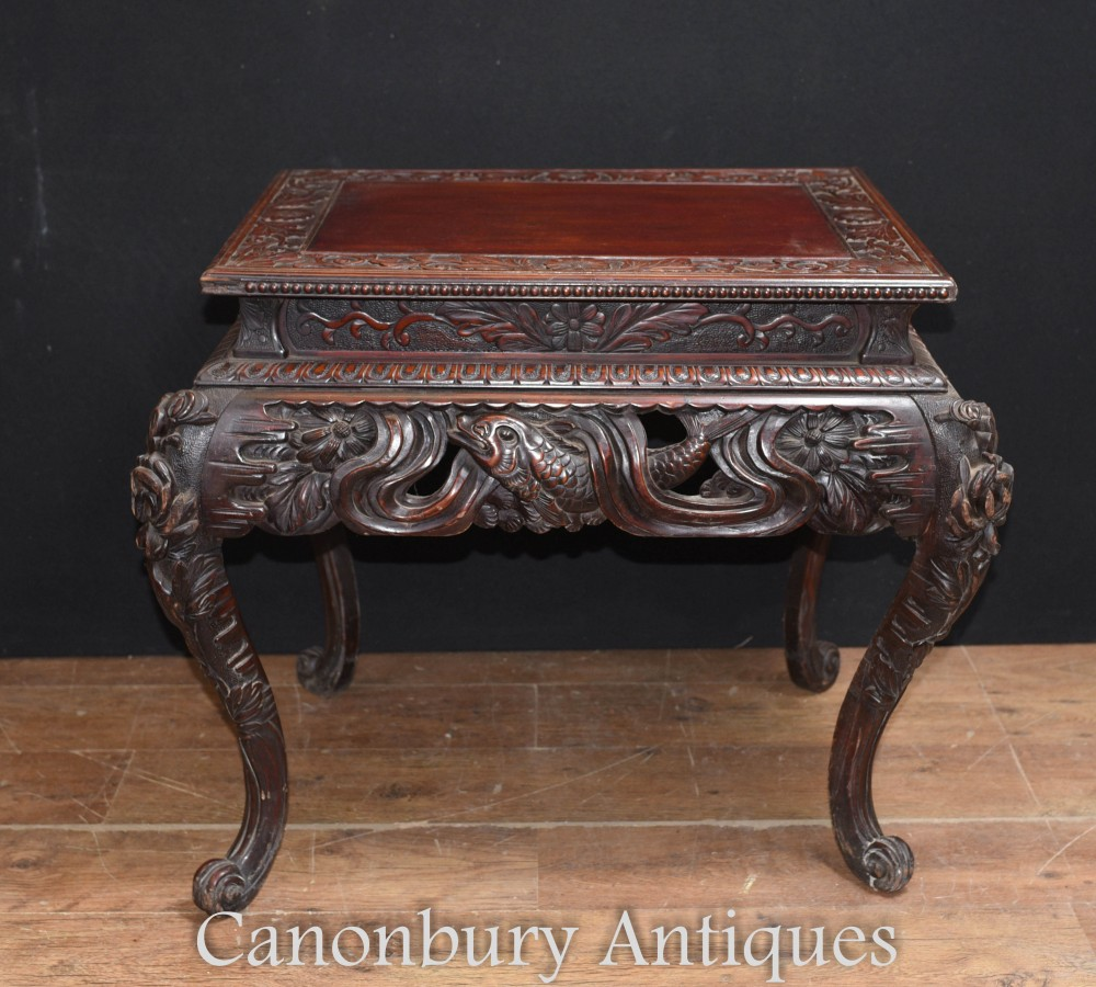 Table d'Appoint Antique Birmane - Myanmar Burma Furniture