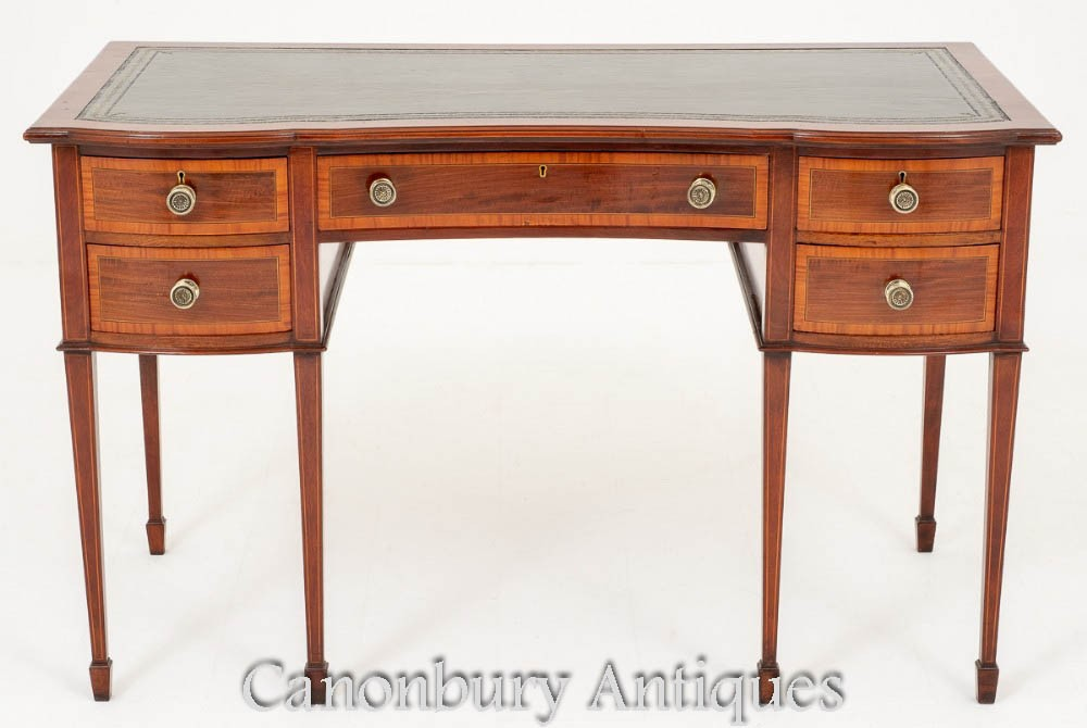 Antique Gillows Desk - Table à écrire en acajou estampé